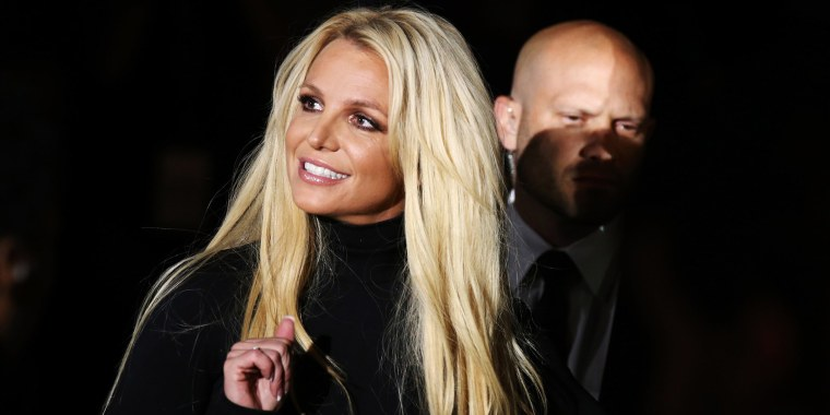 """Singer Britney Spears attends the announcement of her new residency, """"Britney: Domination"""" at Park MGM in Las Vegas, on Oct. 18, 2018."""