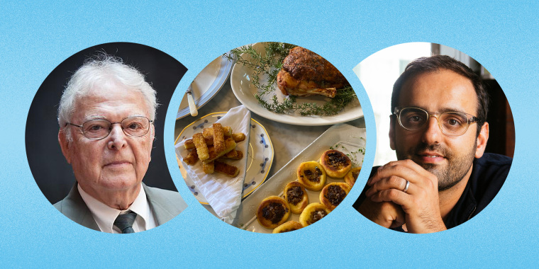 Shaya worked with Fenves to re-create his favorite family recipes like roast turkey, semolina sticks and walnut cake.