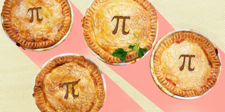 Illustration of pies on a graphic background