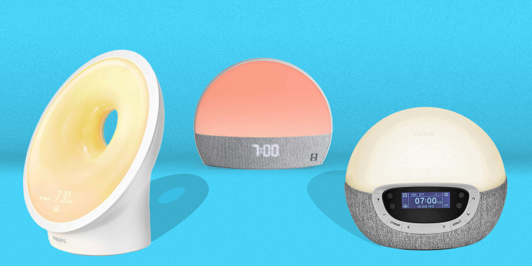 Image: Sunrise Alarm Clocks. Philips SmartSleep Connected Sleep and Wake-Up Light, Hatch Restore Sound Machine and Smart Light, Lumie Bodyclock Shine 300 Wake-up Light Alarm Clock.