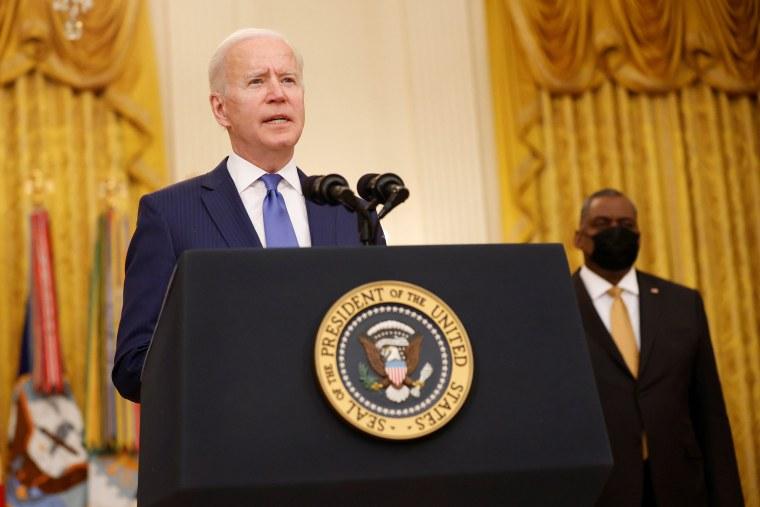 Image: President Joe Biden delivers remarks on International Women''s Day at the White House