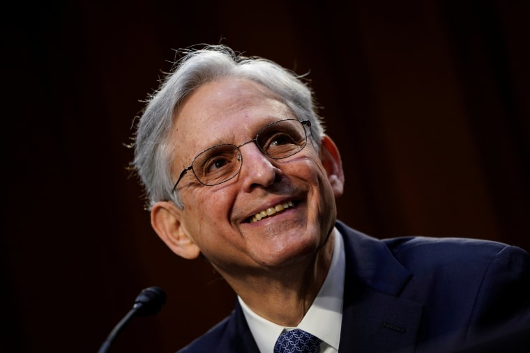 Image: Attorney General nominee Merrick Garland during his confirmation hearing at the Capitol