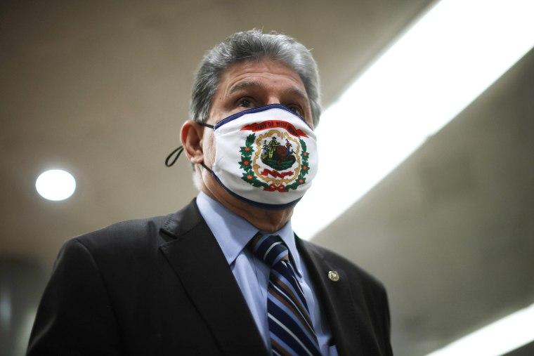 Image: Sen. Joe Manchin, D-W.V. at the Capitol