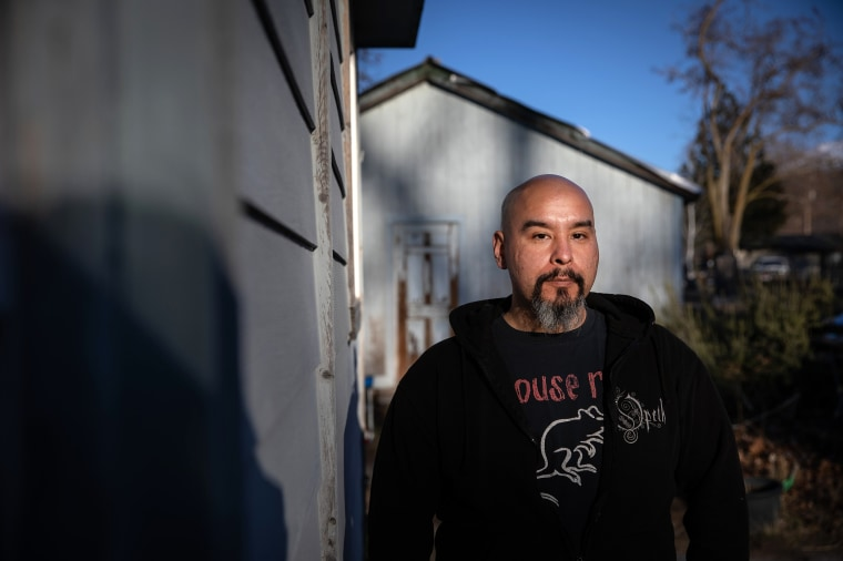 Image: Pedro Rios outside of his family's home in Weed, Calif., on Feb. 23, 2021.