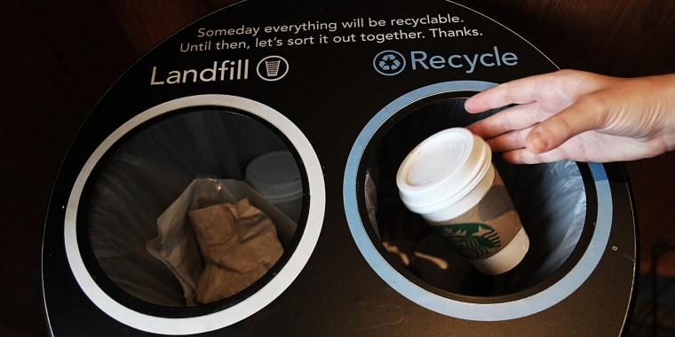 Starbucks Trying To Develop Market For Recycled Coffee Cups
