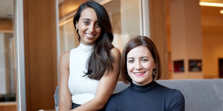 Reshma Chattaram Chamberlin (left) and Lori Coulter are the founders of Summersalt, a brand that aims to create clothes that make women feel comfortable and confident.