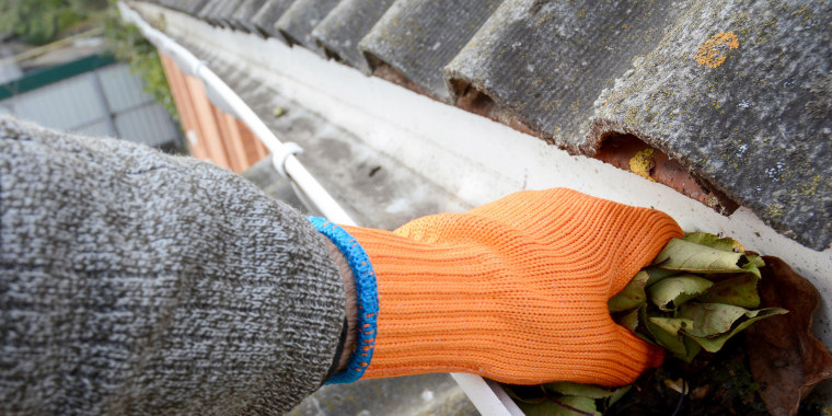 When gutters fill with debris — like sticks and leaves — it prevents rainwater and snowmelt from being able to drain off the roof of your house.