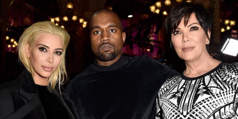 Kim Kardashian, Kanye West and Kris Jenner