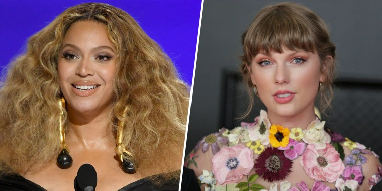 Beyoncé, who is now the most celebrated female artist in Grammy history, sent a special flower arrangement to Taylor Swift after she also made history on Sunday night.