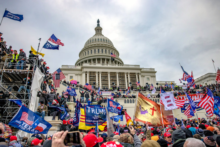 Supporters of President Trump storm the Capitol building on Jan. 6, 2020.