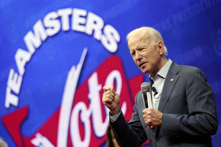 Joe Biden speaks at the Teamsters Vote 2020 Presidential Candidate Forum Dec. 7, 2019 in Cedar Rapids, Iowa.