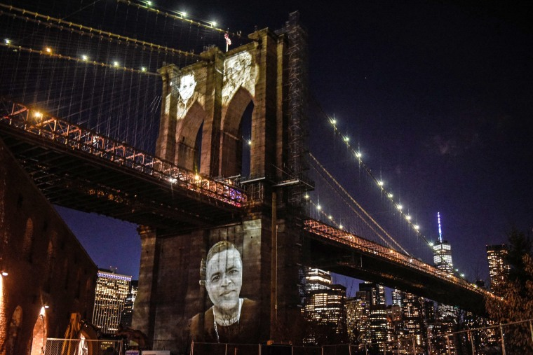 Image: New York City Honors Lives Lost To COVID-19 On Anniversary Of First Death