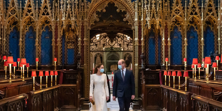 Britain's Prince William, Duke of Cambridge and Britain's Catherine, Duchess of Cambridge