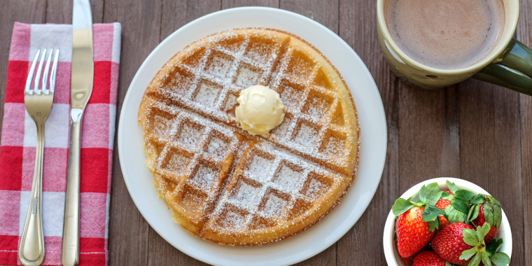 Who said waffles are just for breakfast?