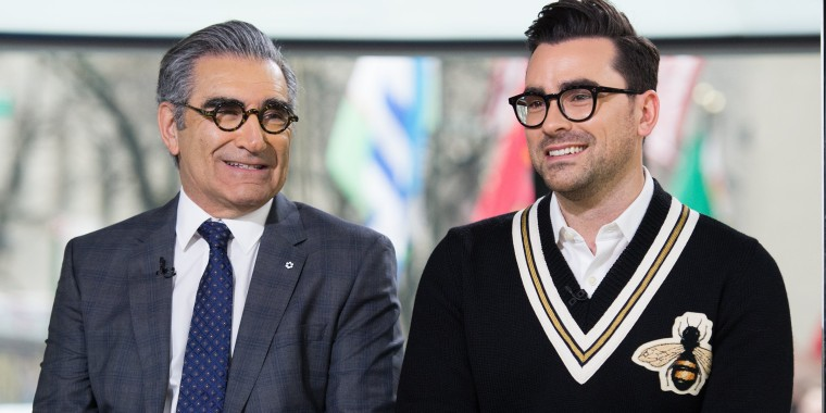 Image: Eugene and Dan Levy on the Today Show, February 7, 2017.