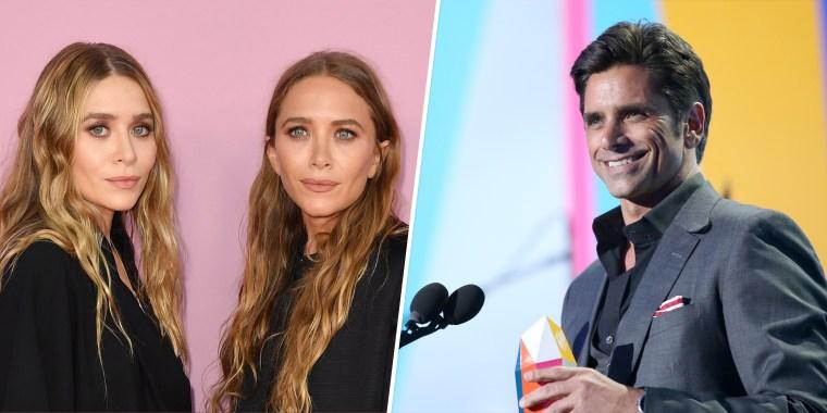 """Mary-Kate and Ashley Olsen starred alongside John Stamos on """"Full House"""" from 1987-1995."""