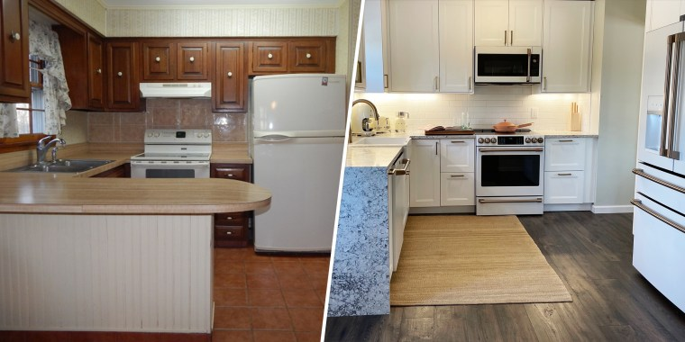 Our kitchen was functional but outdated. So we changed it.