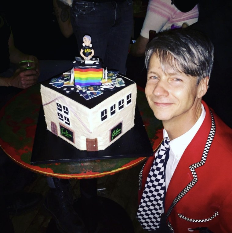 Director John Cameron Mitchell celebrates his birthday at Julius' in New York.