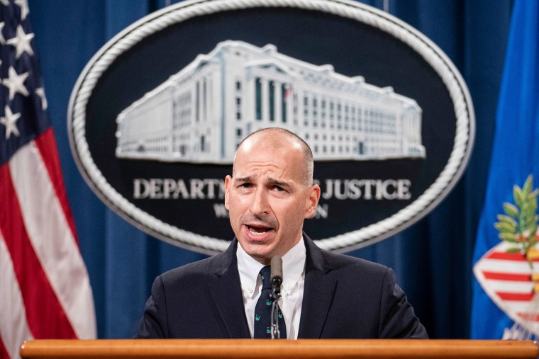 Image: Michael Sherwin, Acting U.S. Attorney for the District of Columbia, speaks at a press conference to give an update on the investigation into the Capitol Hill riots