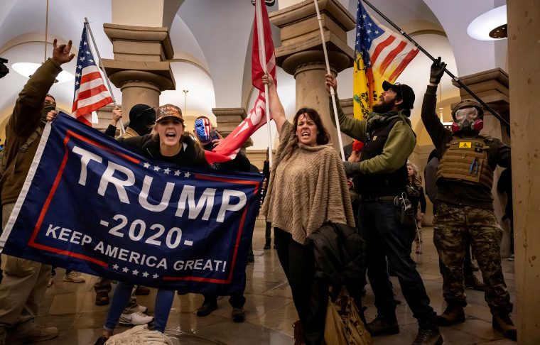 Image: Trump supporters protest inside the U.S. Capitol.