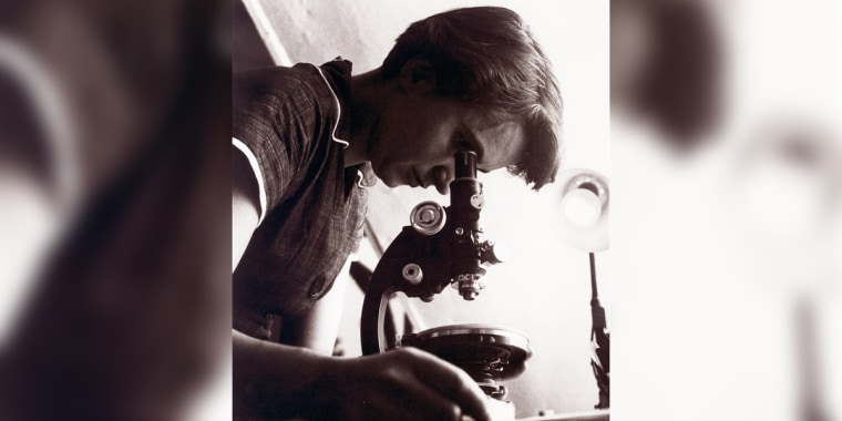 British chemist and crystallographer Rosalind Franklin circa 1955.