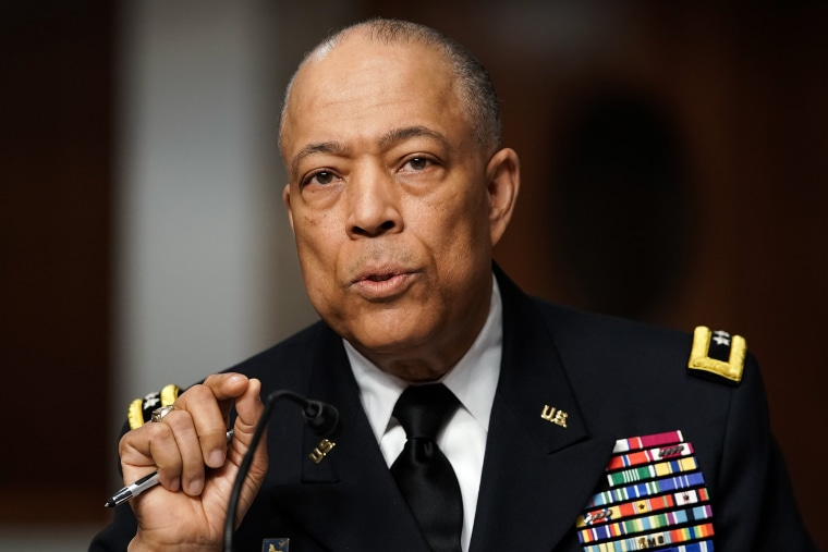 Image: Army Maj. Gen. William Walker answers questions during a hearing to discuss the January 6 attack on the U.S. Capitol