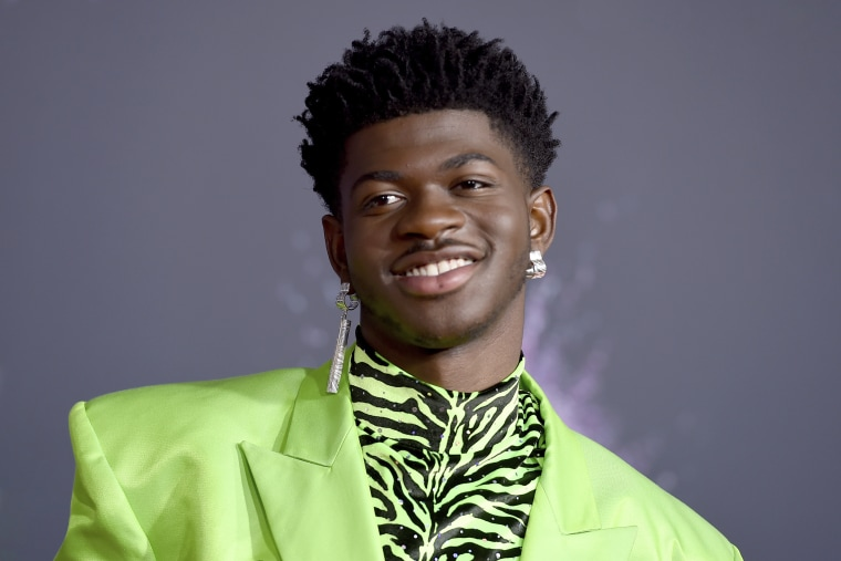 Lil Nas X arrives at the American Music Awards on Sunday, Nov. 24, 2019.