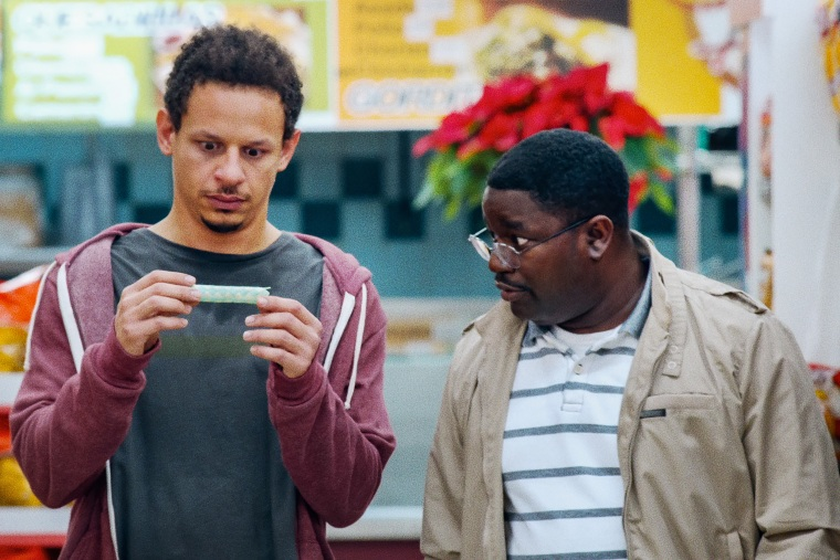 """Image: Eric Andre as Chris Carey and Lil Rel Howery as Bud Malone in a scene from \""""Bad Trip.\"""""""