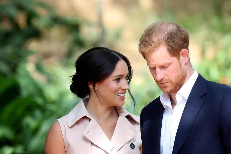 Prince Harry, Duke of Sussex and Meghan, Duchess of Sussex attend a Creative Industries and Business Reception on Oct. 2, 2019 in Johannesburg, South Africa.