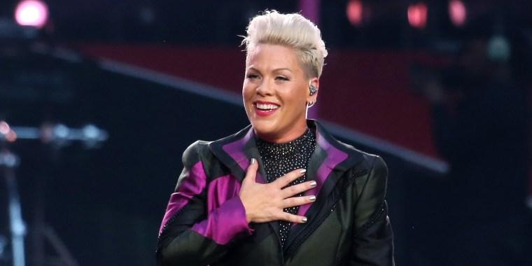 Pink Performs At Wembley Stadium