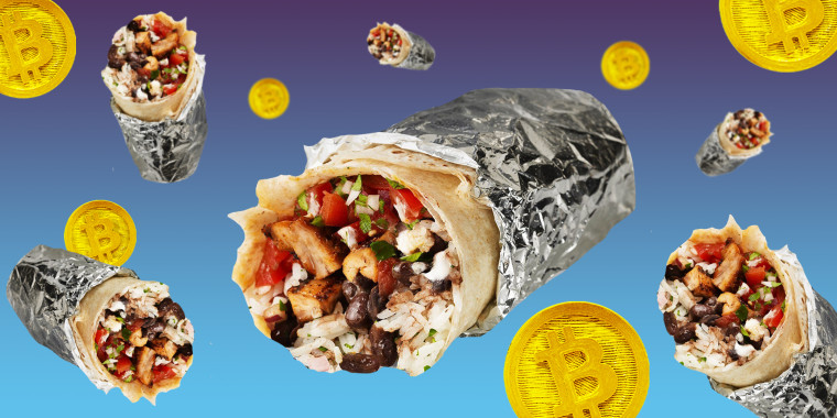 Chipotle Mexican Grill says it will give out free burritos and bitcoin to fans on April 1 in honor of National Burrito Day.