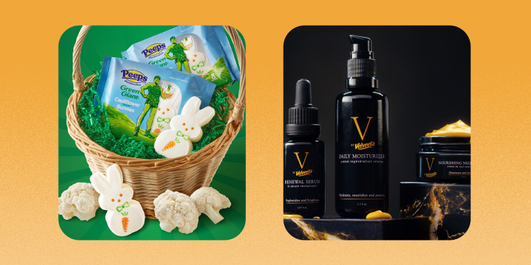 From cauliflower-flavored Peeps to a Velveeta skincare line, this year's April Fools' Day pranks from food brands were … no joke.
