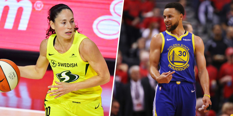 Basketball stars Sue Bird and Steph Curry appear in an ad for CarMax that has gone viral.