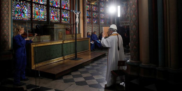 Image: Celebration of Holy Thursday at Notre-Dame de Paris Cathedral