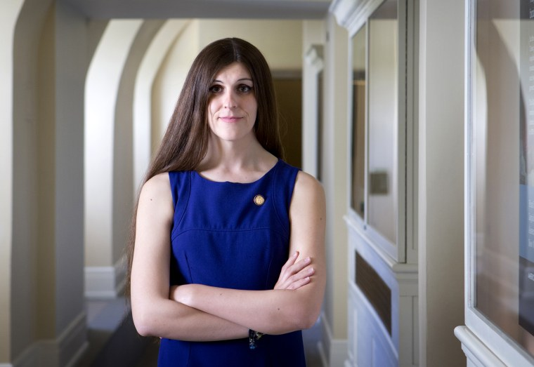 Image: Danica Roem at the state capitol in Richmond, Va., on April 3, 2019.