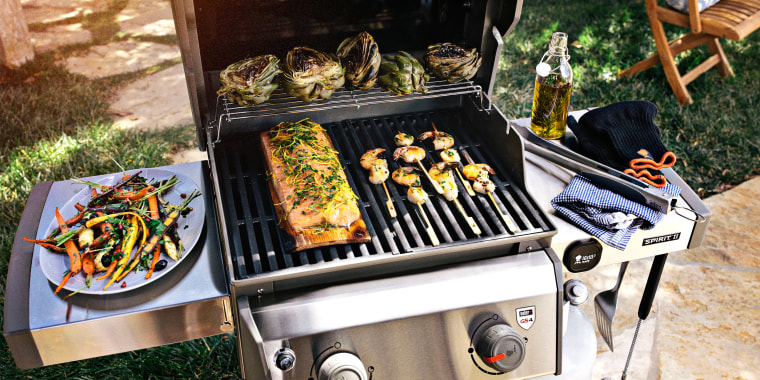 Cooking with a stainless steel grill outdoors. These are the best gas grills of 2021 that are perfect for barbecuing this summer. Learn more about gas grills and shop the best from Weber, Hestan and more