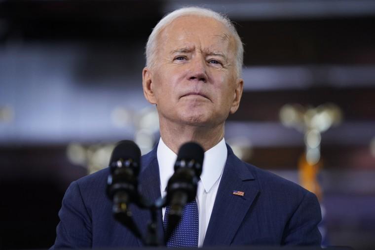 President Joe Biden talks about infrastructure spending in Pittsburgh on March 31, 2021.