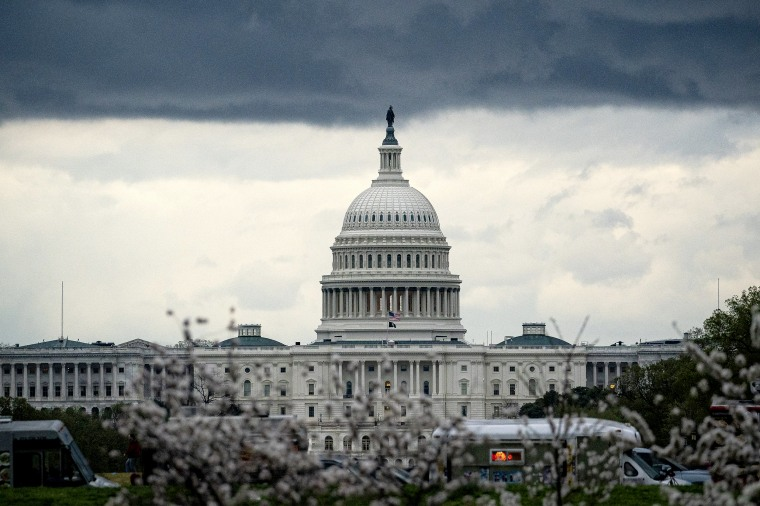 Image: Clouds form above the Capitol on March 28, 2021.