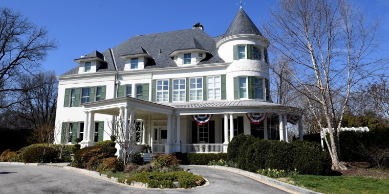 The residence of the Vice President on the grounds of the United States Naval Observatory on March 23, 2017.