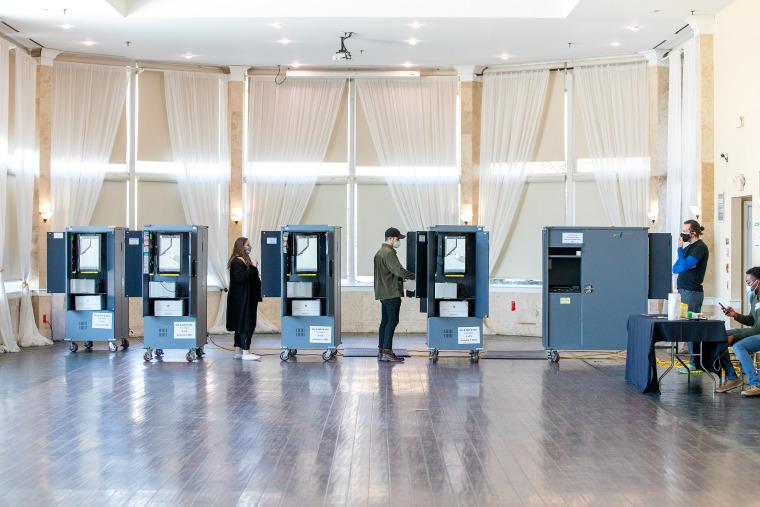 Residents Cast Ballots For Georgia Senate Runoff Election