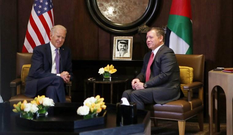 Image: Joe Biden meets King Abdullah in Jordan