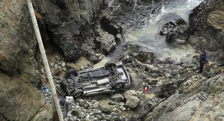 Image: Bodega Bay car crash