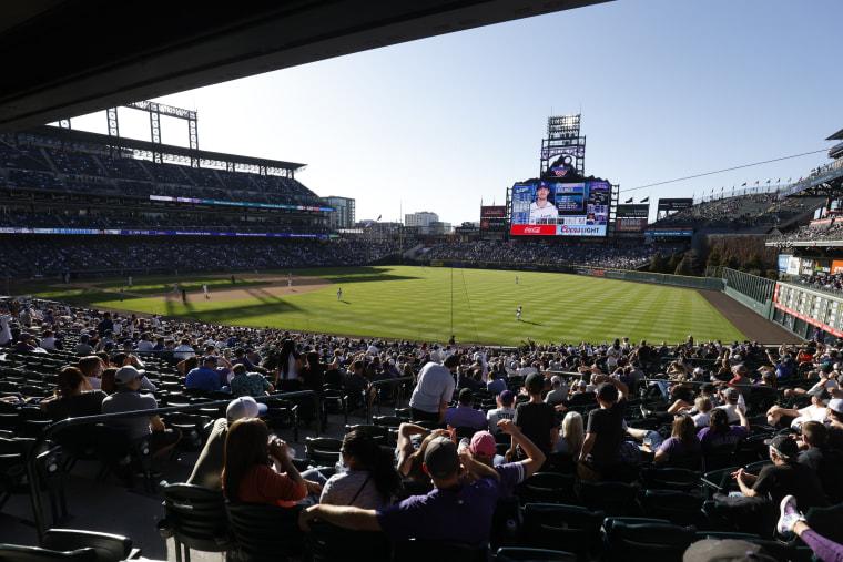 Image: Los Angeles Dodgers v Colorado Rockies