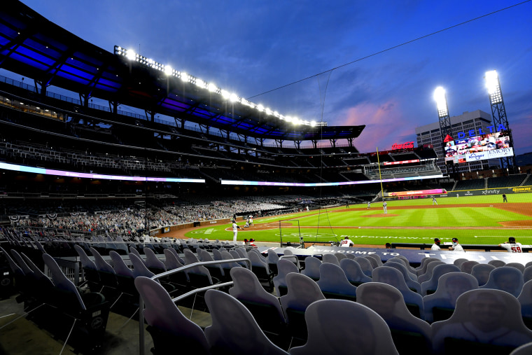 Image: Truist Park, the home of the Atlanta Braves, on July 30, 2020.
