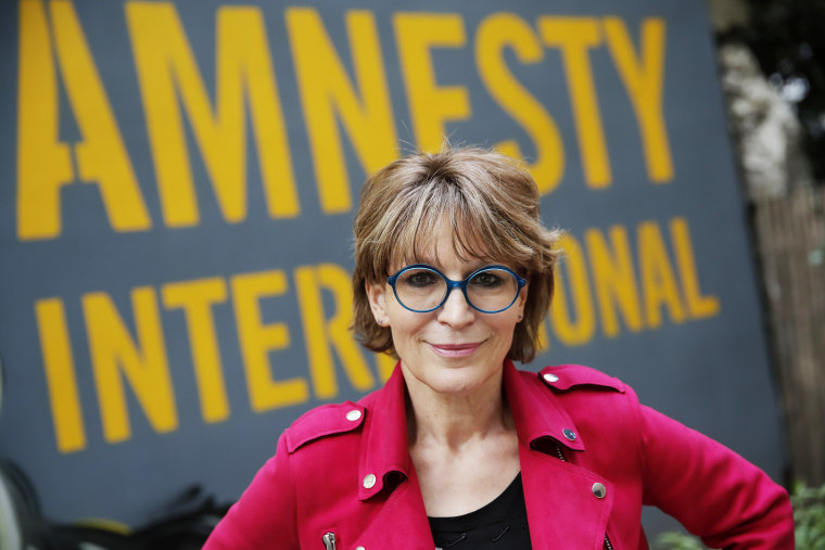 Amnesty International Secretary General Agnes Callamard poses in Paris, Tuesday, April 6, 2021.