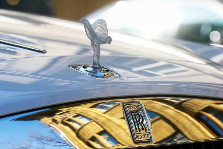 A Rolls-Royce car car in Zurich on March 30, 2021.