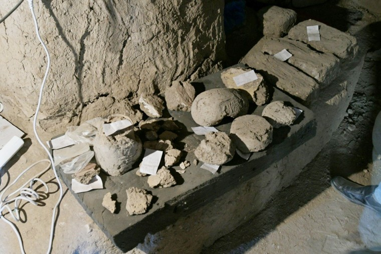 Image: Archeological discoveries are seen in                      Luxor