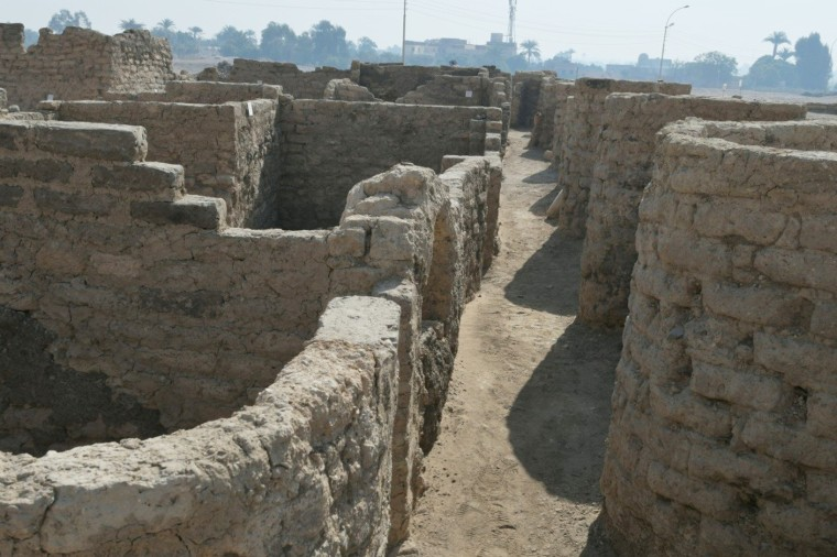 Image: A new archaeological discovery is seen                      in Luxor