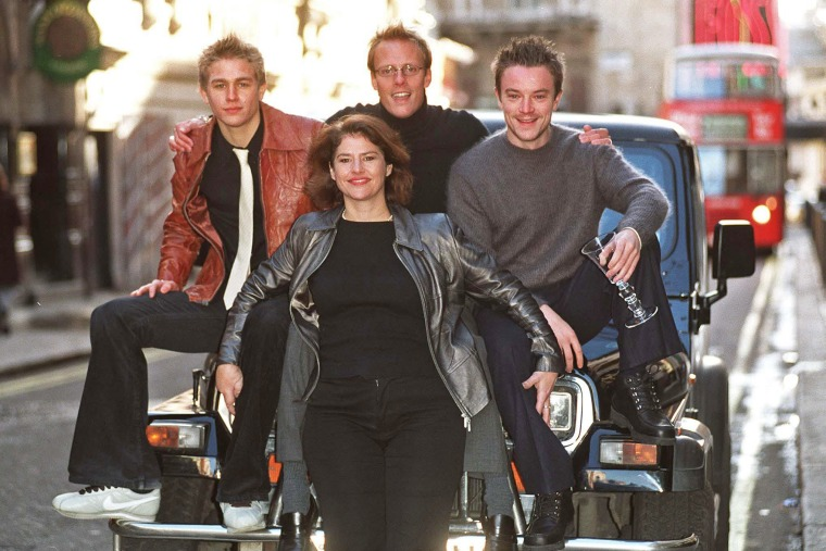 """From left, Craig Kelly, Denise Black, Charlie Hunnam and Anthony Cotton in the British television series \""""Queer as Folk.\"""""""