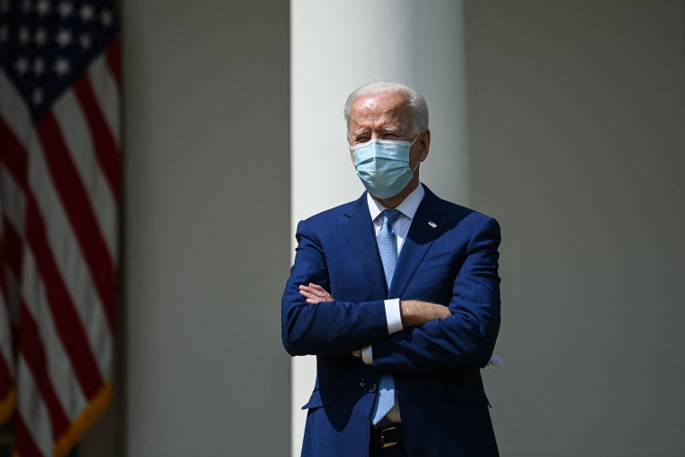 Image: President Joe Biden in the Rose Garden of the White House on April 8, 2021.